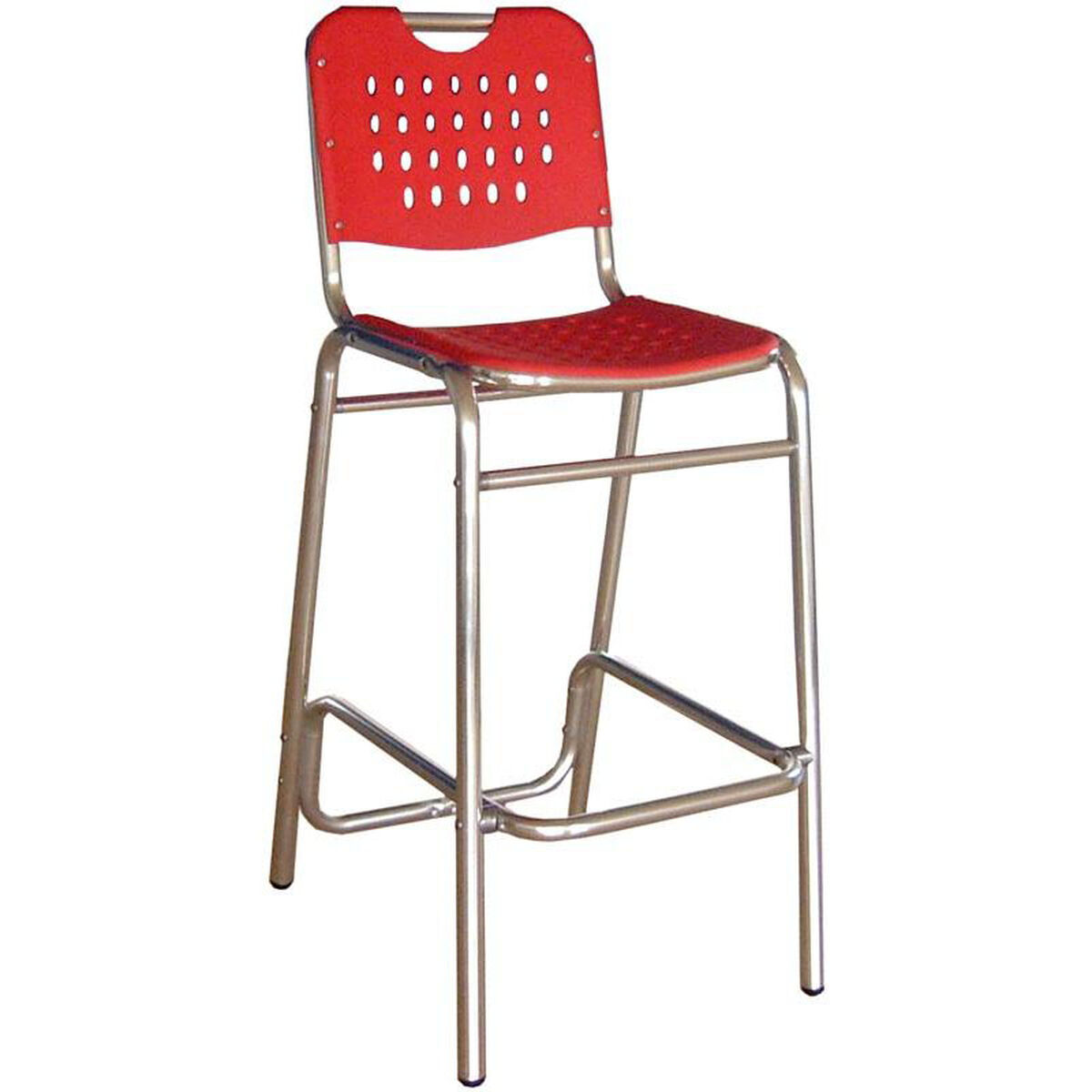 Florida Seating Palm Beach Collection Red Outdoor Barstool