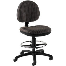 Quick Ship Cheetah Armless Drafting Task Chair