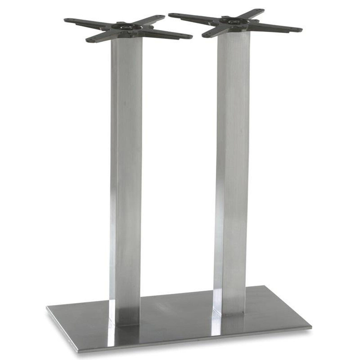 Coffee Height Round Large Table Base Round Column: BFM Seating Elite Stainless Steel Double Column
