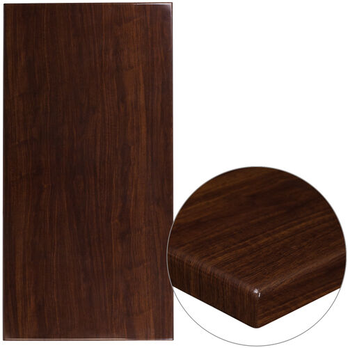 "Our 30"" x 60"" Rectangular High-Gloss Walnut Resin Table Top with 2"" Thick Edge is on sale now."