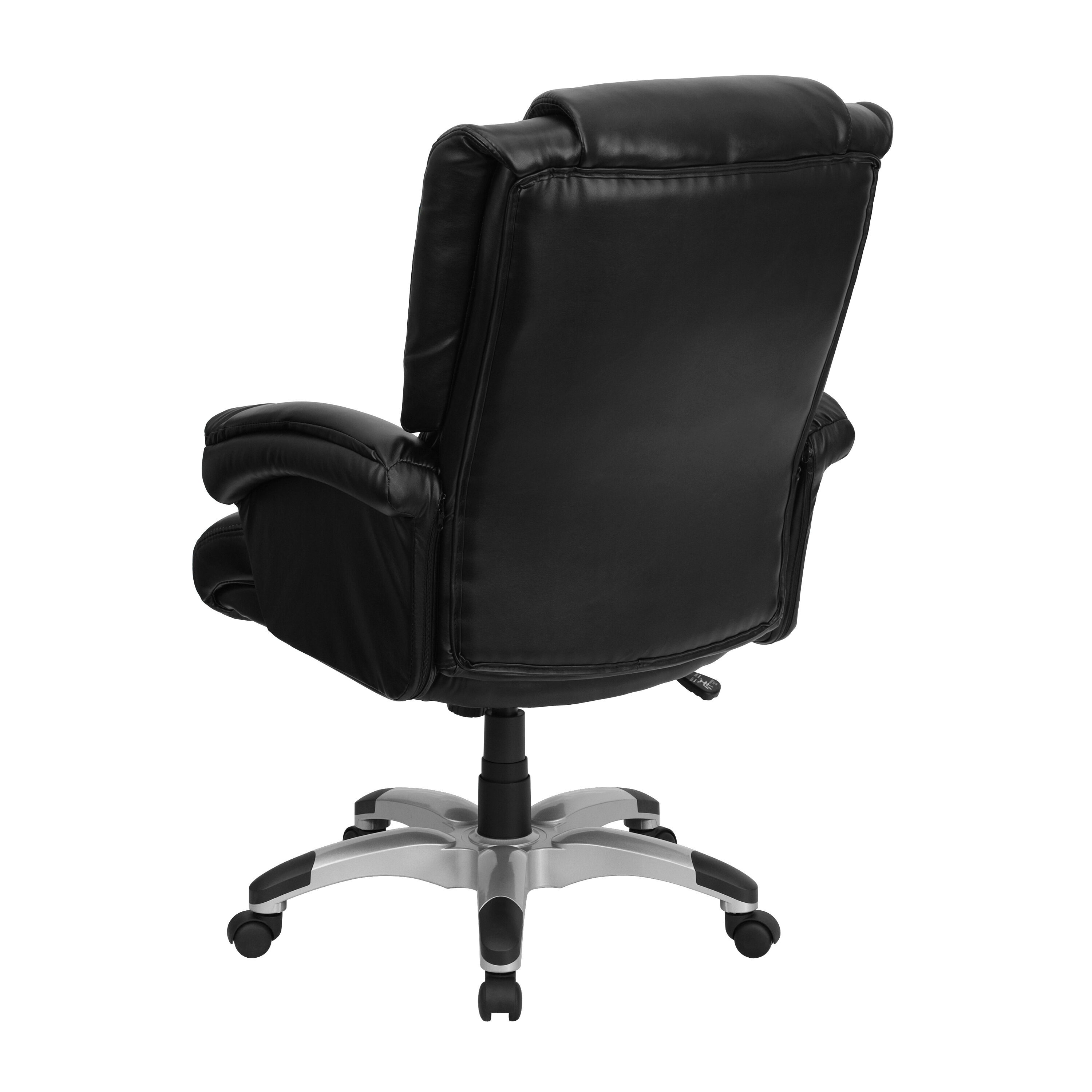 ... Our High Back Black Leather OverStuffed Executive Swivel Ergonomic  Office Chair With Fully Upholstered Arms Is ...