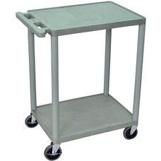 2 Shelf Structural Foam Plastic Utility Cart - Gray - 24
