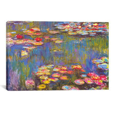 Water Lilies, 1916 by Claude Monet Gallery Wrapped Canvas Artwork