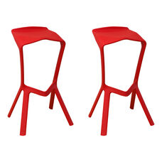 Aspect Ultra Modern Outdoor Red Barstool - Set of 2