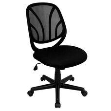 Y-GO Chair™ Mid-Back Black Mesh Swivel Task Chair