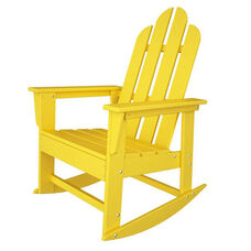POLYWOOD® Long Island Collection Long Island Rocker - Vibrant Lemon