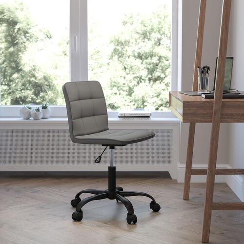 Sorrento Home and Office Task Chair in Gray LeatherSoft