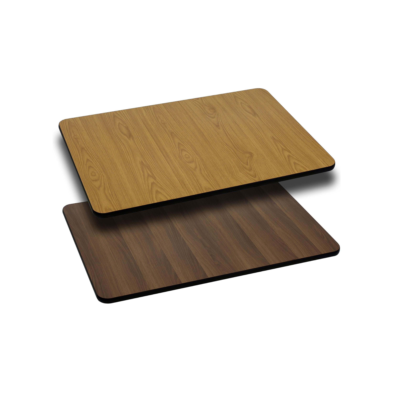 ... Our 24u0027u0027 X 30u0027u0027 Rectangular Table Top With Reversible Natural Or Walnut