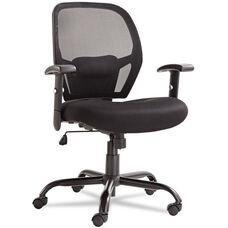 Alera® Merix450 Series Mesh Big/Tall Mid-Back Swivel/Tilt Chair - Black