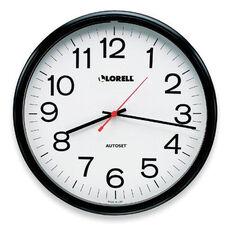 Lorell Wall Clock -13 -1/4''Dia -Arabic Numerals -White Dial/Black Frame