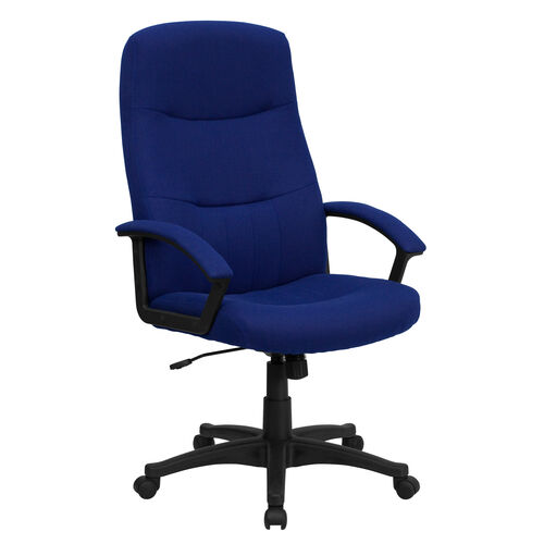 Our High Back Navy Blue Fabric Executive Swivel Office Chair with Two Line Horizontal Stitch Back and Arms is on sale now.