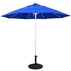 9 Ft. Market Umbrella with Push Lift and Single Wind Vent - White Aluminum Pole