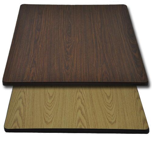 "Advantage 36""x36"" Restaurant Table Top - Oak / Walnut Reversible"