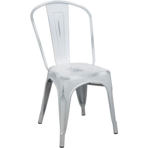 Advantage Distressed White Tolix Chair