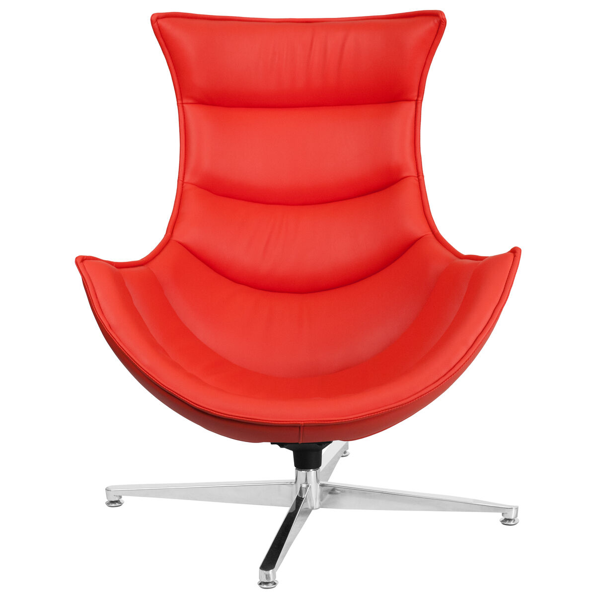 Patio Furniture Southern New Jersey: Red Leather Swivel Cocoon Chair