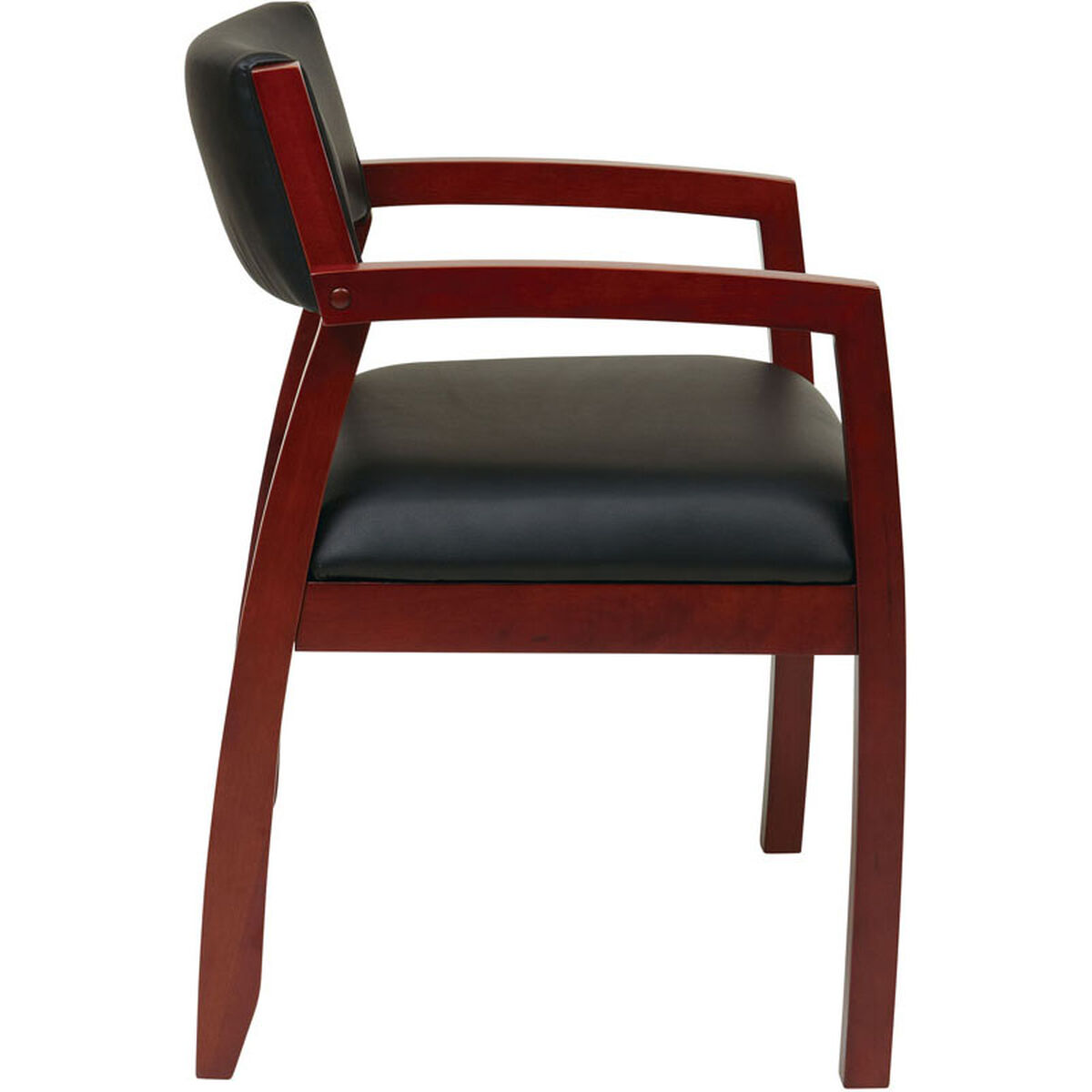 Our Osp Furniture Napa Bonded Leather Guest Chair With Upholstered Back Cherry Is On