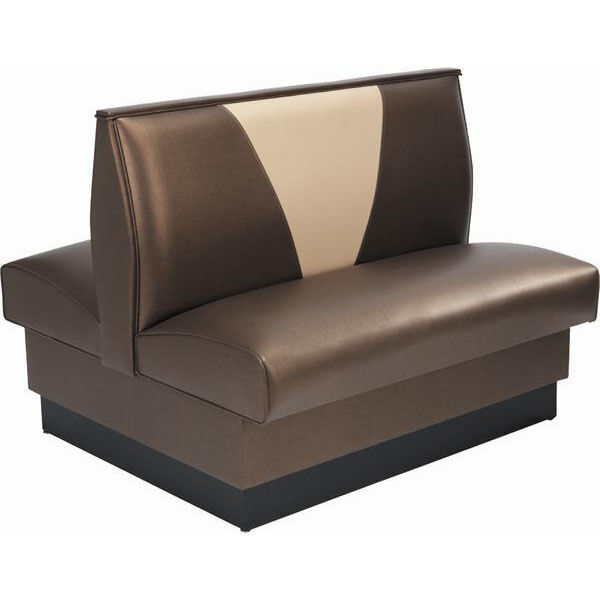 ... Our 42u0027u0027H Upholstered V Shaped Back Double Sided Booth   Grade 5