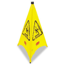 Rubbermaid® Commercial Three-Sided Caution - Wet Floor Safety Cone - 21w x 21d x 30h - Yellow