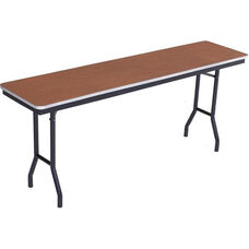 Sealed and Stained Plywood Top Table with Aluminum T - Molding Edge - 24''W x 96''D x 29''H