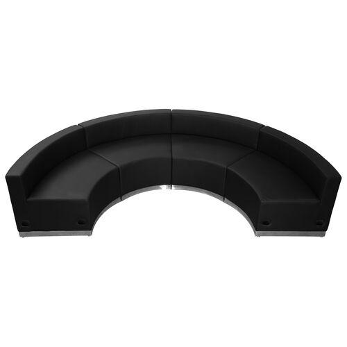 HERCULES Alon Series Black LeatherSoft Reception Configuration, 4 Pieces