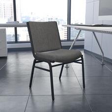 HERCULES Series Heavy Duty Gray Fabric Stack Chair