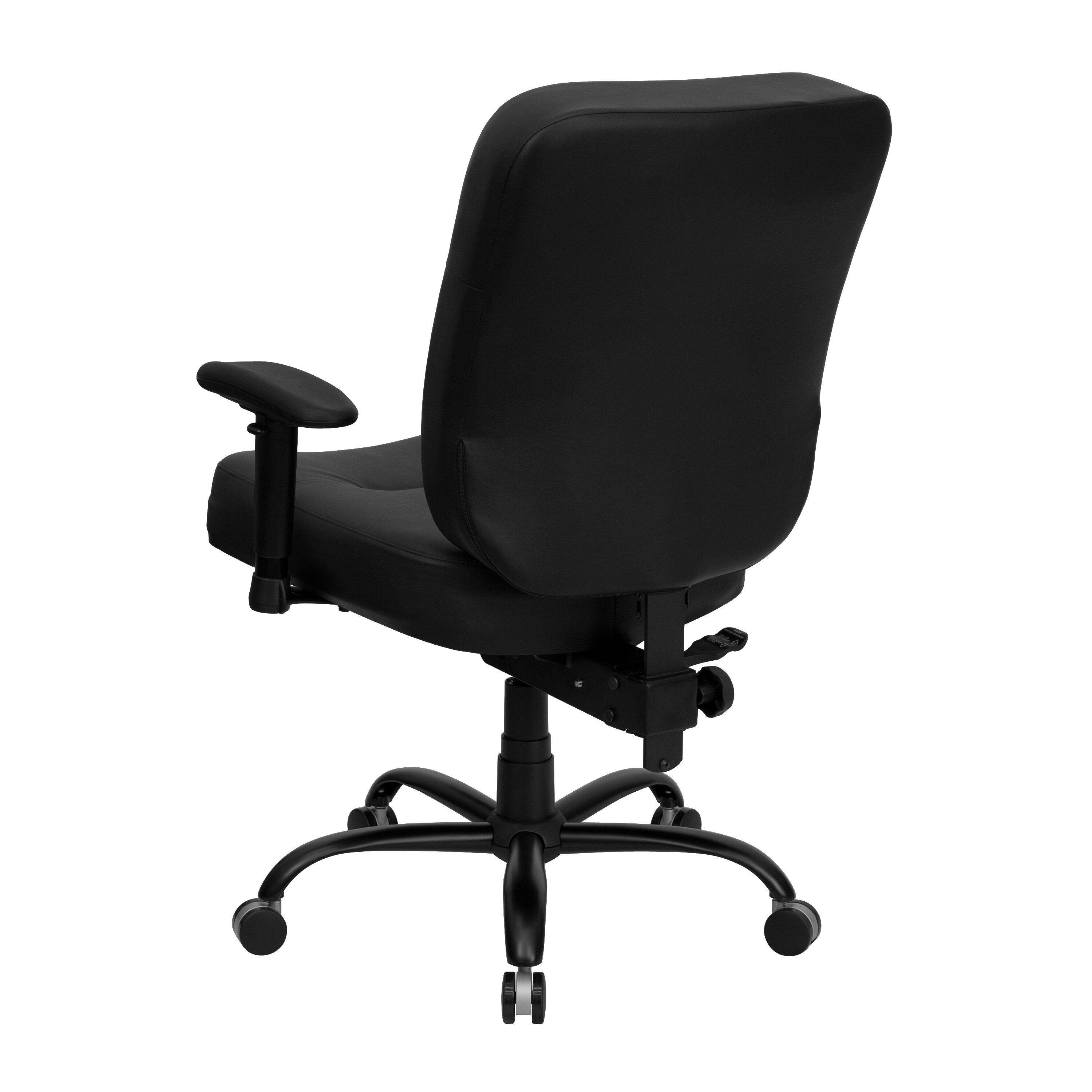 ... Our HERCULES Series Big U0026 Tall 400 Lb. Rated Black Leather Executive Swivel  Chair With ...