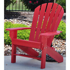Seaside Recycled Plastic Adirondack Chair in Red