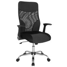 Milford High Back Office Chair with Contemporary Mesh Design in Black and White