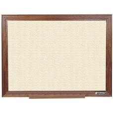 114 Series Wood Frame Tackboard - Fabricork - 48