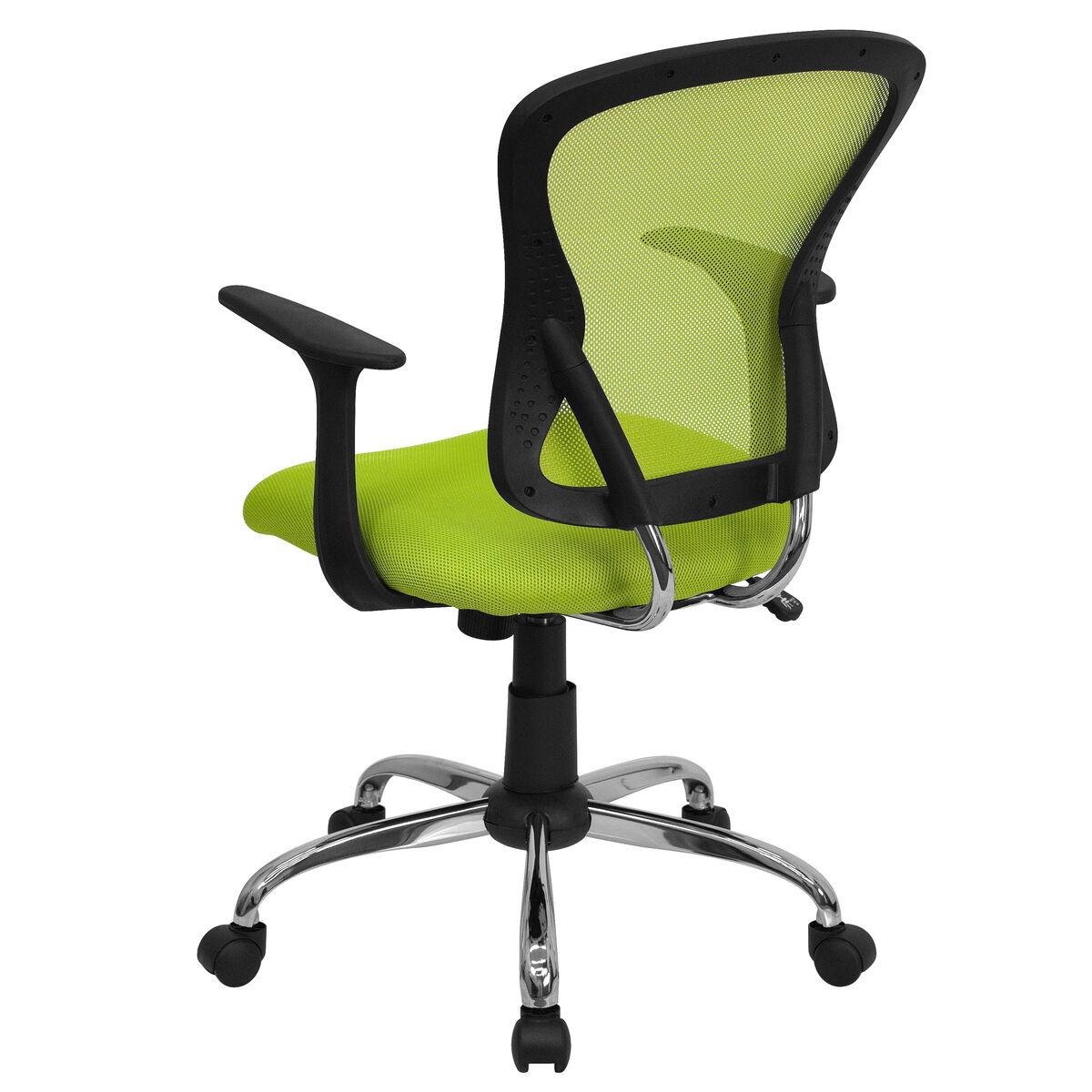 green mid back task chair h 8369f gn gg restaurantfurniture4less com