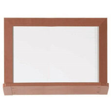 Architectural High Performance High Gloss White Porcelain Marker Board with Oak Wood Grain Look Aluminum Trim