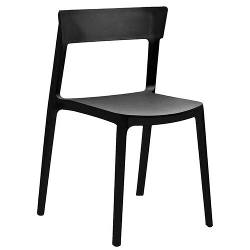 Rho Black Modern Stackable Side Chair - Set of 4