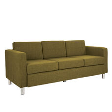 Ave Six Pacific Sofa with Chrome Finish Legs - Green