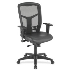Lorell Executive Chair - Adjustable - Leather/Black