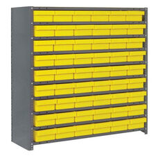 7 Shelf Closed Unit with 54 Bins - Yellow