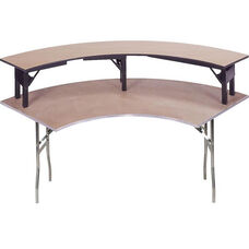 Standard Series Crescent Riser with Plywood Top - 15''W x 84.5''D