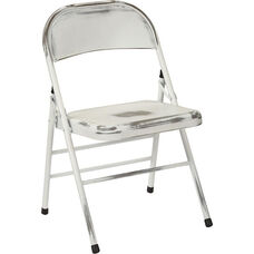 OSP Designs Bristow Distressed Steel Folding Chair - Set of 4 - Antique White