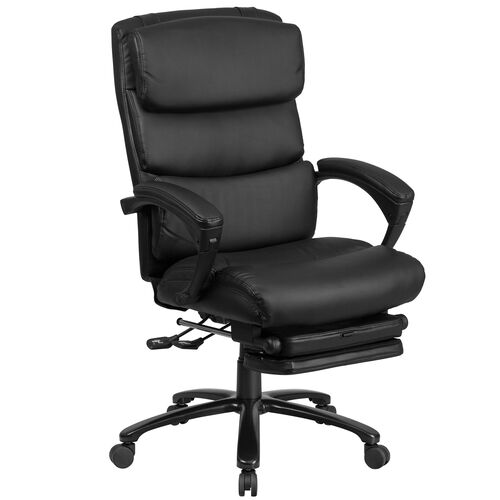 Our High Back Black LeatherSoft Executive Reclining Ergonomic Office Chair with Adjustable Headrest, Coil Seat Springs and Arms is on sale now.