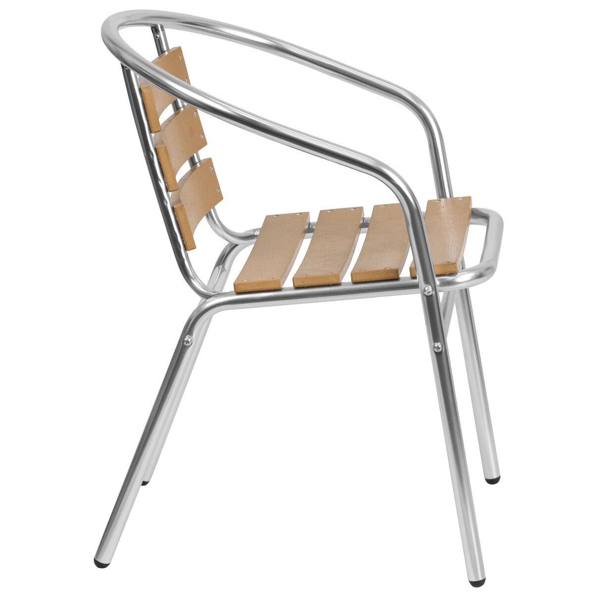 Commercial Aluminum Indoor Outdoor Restaurant Stack Chair