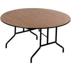Round Laminate Top and Plywood Core Folding Seminar Table - 60'' Diameter x 29''H