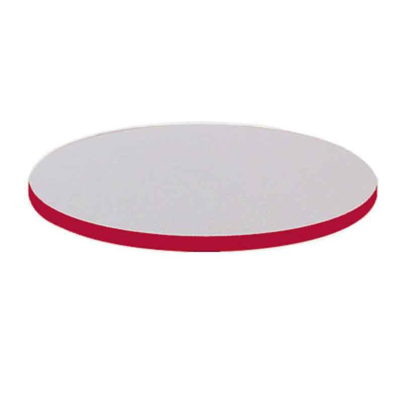 48u0027u0027 Round High Pressure Laminate Table Top With Black T Mold