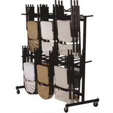 Steel Frame Folding Chair Truck with 4'' Casters and Hanging Rods - 68''D x 31''W