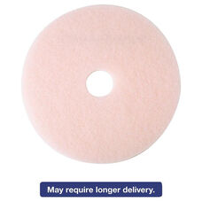 3M Ultra High-Speed Eraser Floor Burnishing Pad 3600 - Pink - 5/Carton