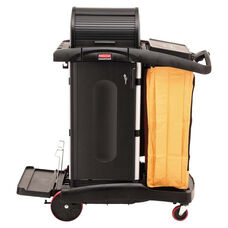 Rubbermaid® Commercial High-Security Healthcare Cleaning Cart - 22w x 48-1/4d x 53-1/2h - Black
