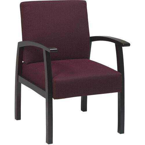 Our Work Smart Deluxe Guest Chair with Wood Base and Arms and Lumbar Support - Mahogany is on sale now.