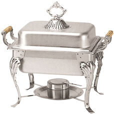 4 Quart Half Size Square Chafer with Deluxe Handle Set