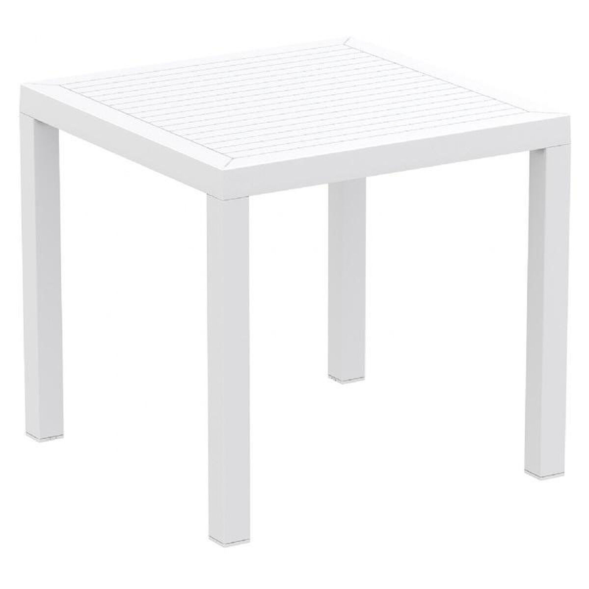White Square Dining Table: Ares Resin Outdoor 31'' Square Dining Table