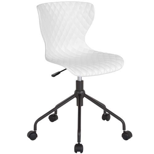 Brockton Contemporary Design White Plastic Task Office Chair