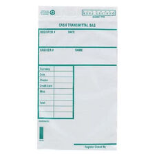 Quality Park Cash Transmittal Bags withRedi-Strip - Pack Of 100