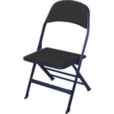 2000 Series Vinyl Upholstered Seat and Back Folding Chair with 14.25'' Seat Depth